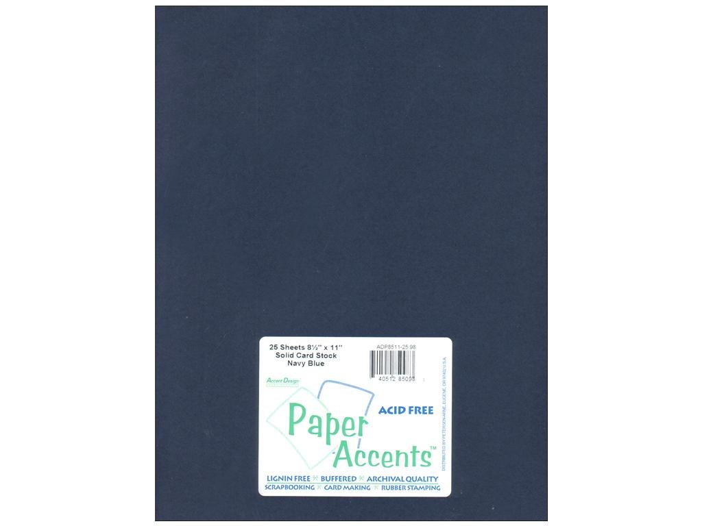 Cream colored cardstock paper studio - Amazon Com Paper Accents Cardstock 8 5x11 Smooth Navy Blue 65lb 25 Pack