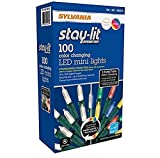 Sylvania Lights 957984 Sylvania Christmas Lights 3-Function Color Changing Warm White Multi C