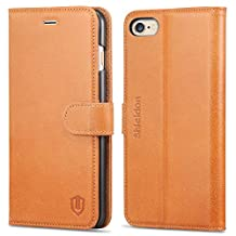 iPhone 6S Plus Case, iPhone 6 Plus Case, SHIELDON Genuine Leather Wallet Case, [Lifetime Warranty] Flip Book Cover with Stand Feature, Cards Slots, Magnetic Clasp for iPhone6S Plus / iPhone6 Plus, Brown