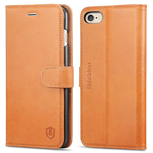 Wallet Flip Leather Case with Card Bag Holder for iPhone 6 Plus/6s Plus Brown - 6
