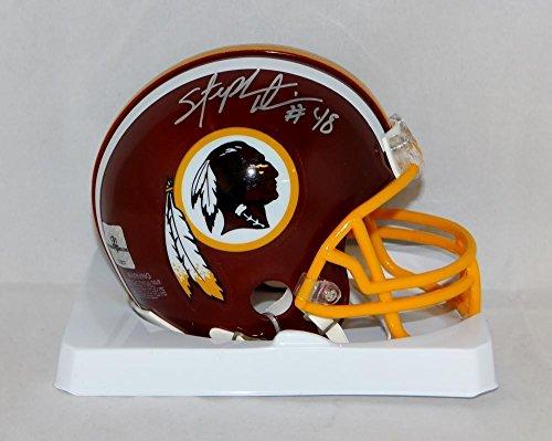 (Stephen Davis Autographed Mini Helmet - The Jersey Source Aut - Autographed NFL Mini Helmets)