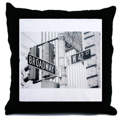 CafePress - NY Broadway Times Square - - Throw Pillow, Decorative Accent Pillow (Ny Throw Pillow)