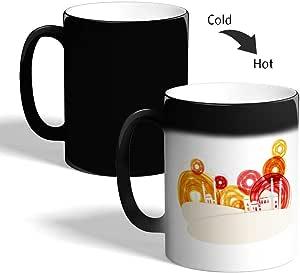 Abstract art - Mosque Printed Magic Coffee Mug, Black