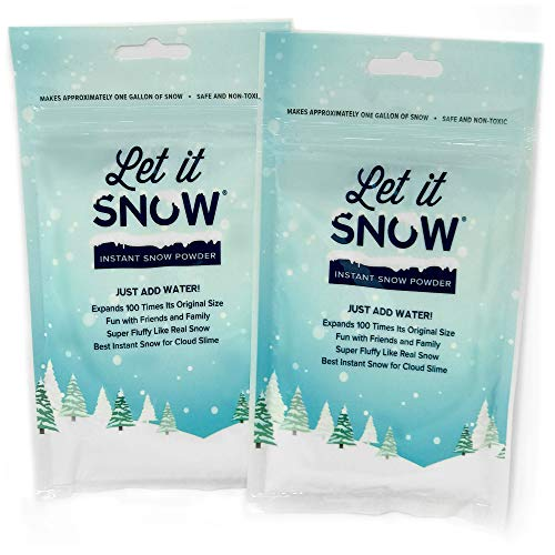 Let it Snow Instant Snow Powder Slime - #1 Artificial Fake Snow Slime Supplies - Made in The USA Non-Toxic Safe - Instant Snow Cloud Slime Snow Decorations - Mix Makes 5 Gallons by Let it Snow