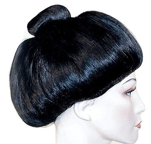 Geisha Black Costume Wig - Scary Geisha Halloween Costume