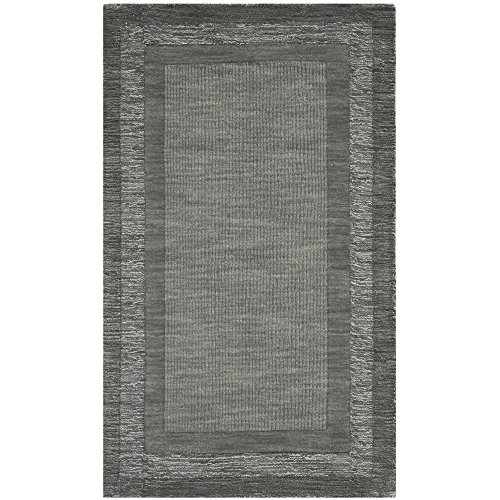 - Safavieh Impressions Collection IM821B Handmade Charcoal and Blue Premium Wool Area Rug (4' x 6')