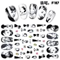 12 Sheets with Different Pattern Water Transfer DIY Nail Art Decals Stickers with Marilyn Monroe Beauty Girl for Women and Kids