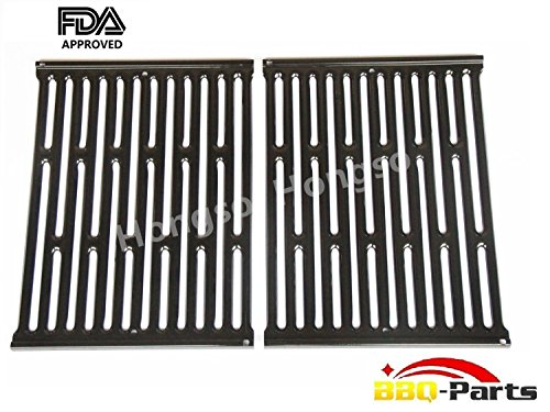 Hongso PCG523 Porcelain Enameled Grates BBQ Replacement for Weber 7523, Weber Genesis Silver A and Spirit 500 gas grills; aftermarket replacements