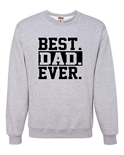 Medium Athletic Heather Adult Best Dad Ever #1 Dad World's Greatest Dad Fathers Day Sweatshirt Crewneck