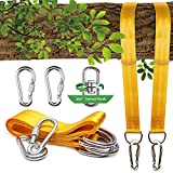 Tree Swing Straps, 2 Sets Hammock Hanging Kit Extra Long Wood Hanger Ropes Adjustable-Heavy duty Carabiner Swivel For Outdoor Tree Swing & Hammocks Strap,Tire Swing,Saucer Swing,Toddler swings For Sale