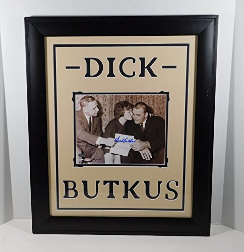 Dick Butkus Signed 8 x 10 Photo Framed & Matted Mounted Memories Auto (Dick Butkus Signed Photo)