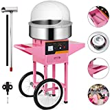 Happybuy Electric Candy Floss Maker 20.5 Inch Cotton Candy Machine 1030W for Various Parties (Cotton Candy Machine with Cart & Cover)