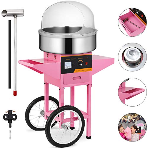 Happybuy Electric Candy Floss Maker 20.5 Inch Cotton Candy Machine 1030W for Various Parties (Cotton Candy Machine with Cart & Cover) by Happybuy (Image #9)