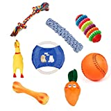 chicken and cabbage - JEANSWSB 8 PCS Pet Dog Puppy Chew Toys - Anti Bite Squeaker Squeaky Sound Ball Fruit Braided Knot Bone Rope Shape Frisbee Training Dogs Toy Pet Products