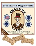 Peanut Butter Oven Baked Dog Biscuits by Erasmus Pets – Natural and Healthy Dog Treats - No Artificial Preservatives – Made In The USA – Eco Friendly Packaging - 7oz Bag