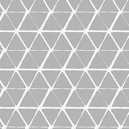 Carousel Designs Gray Aztec Triangles Cradle Sheet
