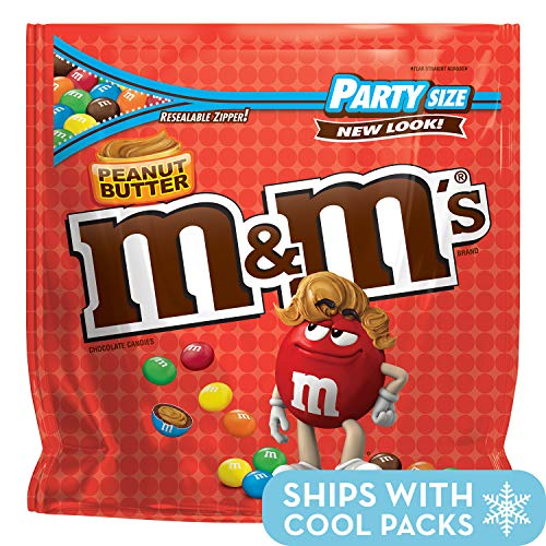 (M&M'S Peanut Butter Chocolate Candy Party Size 38-Ounce Bag)