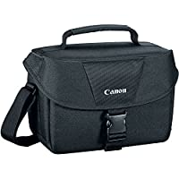 Canon Well Padded Multi Compartment Compact Digital SLR EOS Rebel Camera Gadget Case + Lens Cleaning Pen + Screen Protector + Accessories Bundle by The Imaging World