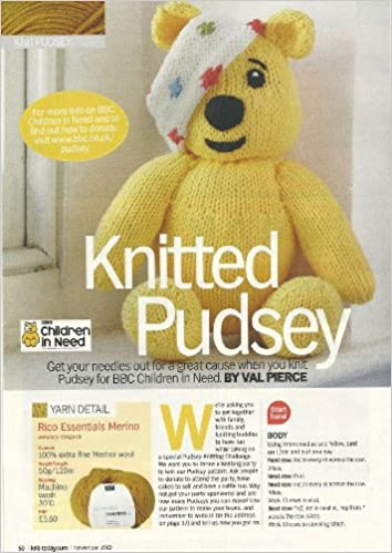 Knitted Pudsey Knit Today Magazine Pullout Toy Knitting Pattern