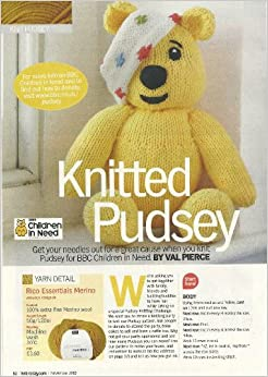 Pudsey Bear Knitting Pattern : Knitted Pudsey (knit today magazine pullout) toy knitting pattern: Amazon.co....