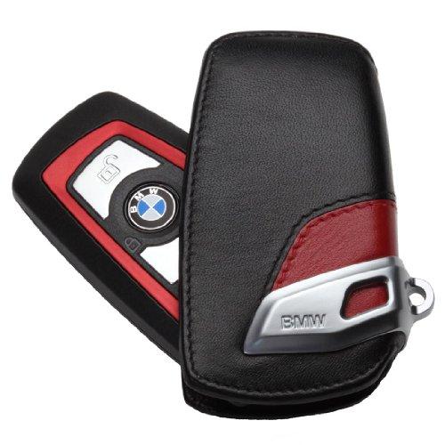 BMW Lines Leather Sport Key Case Red & Black F01 F02 F30 F25 F10 F07 F12 F20 (Bmw Leather)