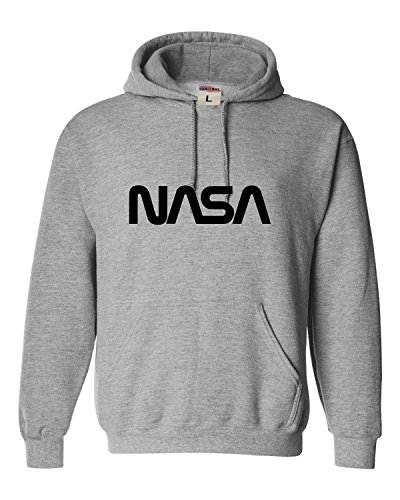 XX-Large Oxford Adult NASA Worm Logo Sweatshirt Hoodie