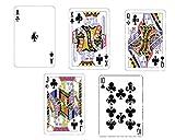 1/2 Sheet - Poker Clubs Royal Flush Birthday - D24152 - Edible Cake/Cupcake Party Topper