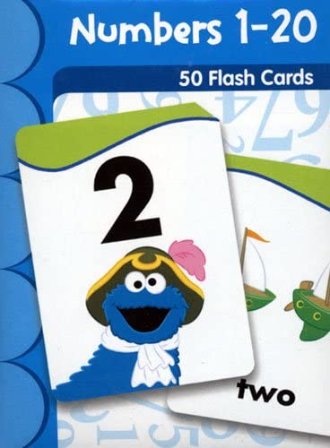 Amazon Com Flash Cards Sesame Street Numbers 1 20 Toys Games