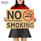 CASA SHOP Vintage Poster Promotion No Smoking Commonweal Poster Stickers