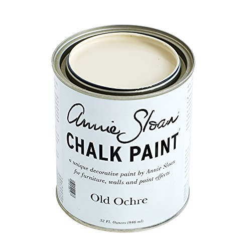 CHALK PAINT (R) by Annie Sloan - Old Ochre (Quart - 32oz) – Decorative paint for furniture, cabinets, floors, home decor and accessories – Water-based – Non-toxic – Matte (Ivory Chalk)