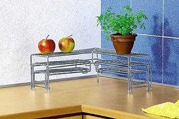 Vario eckregal küchen eckregal teleskopregal regal metall neu ovp