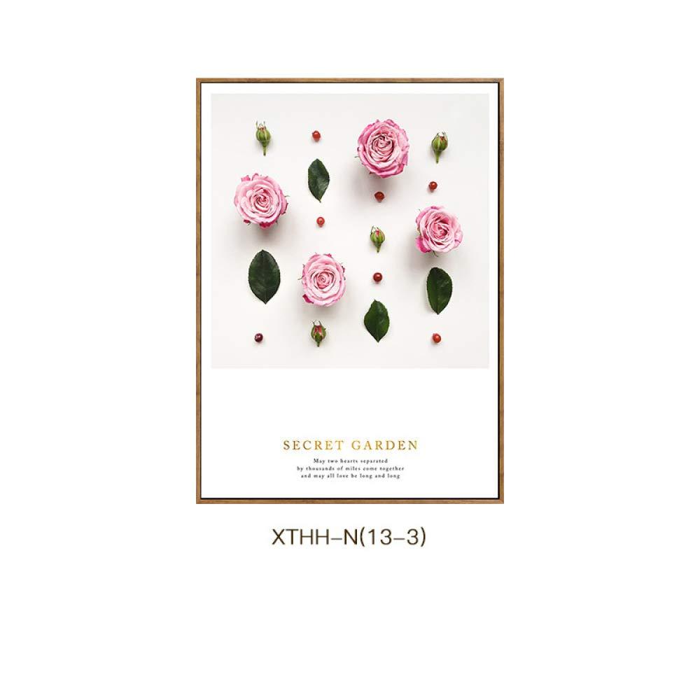 CWJ Flores de Plantas Modernas Europeas de Jane y Elegantes Pinturas de Dormitorio de salón de Estilo estético, Pintura Decorativa de Porche,A,50  70