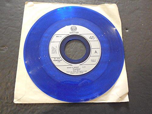 City Boy, What A Night , Vertigo Records 6059 211 France Blue Vinyl NM]()