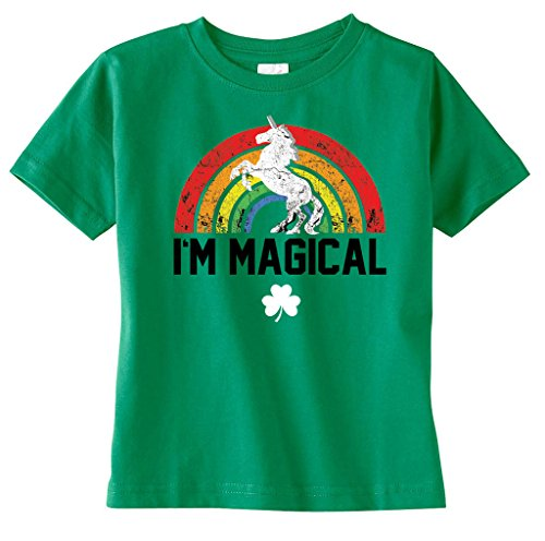 [SoRock Baby, Toddler and Youth St. Patrick's Day Magical Unicorn Tshirt (3 Toddler, Green)] (St Patricks Day Shirts For Toddlers)