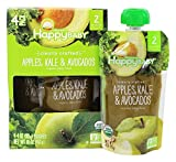 HappyFamily - HappyBaby Organic Clearly Crafted Stage 2 Baby Food 6+ Months Apples, Kale & Avocados - 4 Pouches