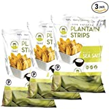 Artisan Tropic Plantain Strips, Sea Salt, Cooked in Sustainable Palm Oil, Paleo Certified, 1.75 Oz, (3 Pack) Packaging may Vary