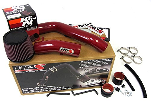 HPS 37-275R Red Long Ram Cold Air Intake Kit (Cool, CAI) (Non-Carb Compliant)