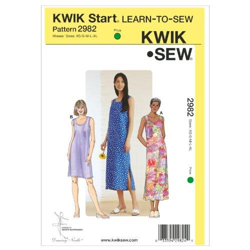 Kwik Sew K2982 Dresses Sewing Pattern, Size XS-S-M-L-XL by KWIK-SEW PATTERNS