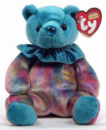 27274d03403 Image Unavailable. Image not available for. Color  Ty Beanie Baby December  Turquoise Birthstone Teddy Happy Birthday Bear