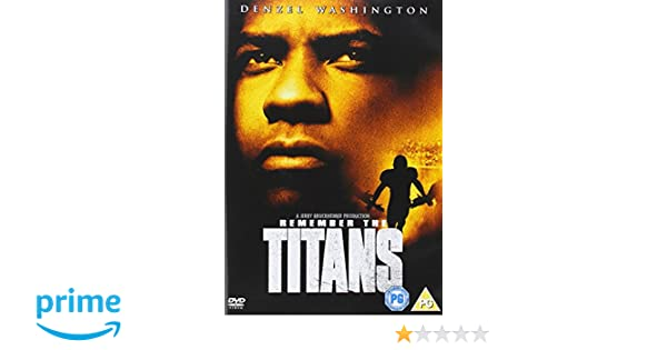 Remember The Titans Reino Unido Dvd Amazon Es Denzel
