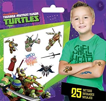 Amazon.com: Teenage Mutant Ninja Turtles Tattoo: Toys & Games