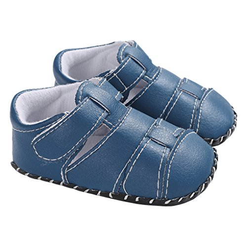 Baby Boys Girls First Walking Shoes Soft Sole Non-Slip Breathable Walkers Sandal Light Blue Size 13