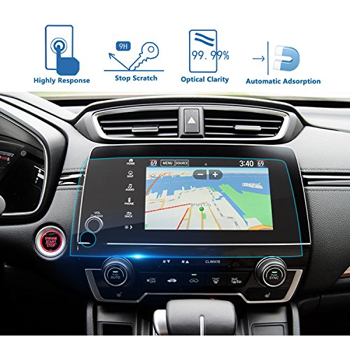 LFOTPP Heat-Resistant 2017 2018 2019 CRV EX EX-L Touring 7-Inch Car Navigation Screen Protector, Clear Tempered Glass Infotainment Display in-Dash Center Touch Screen Protector