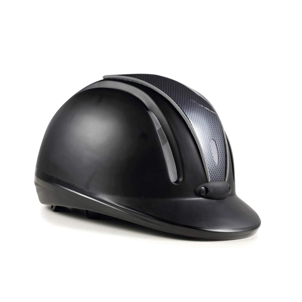 Yililay Horse Riding Helmet L Black Protective Head Gear Saddlery Breathable Riding Helmet Unisex Equestrian Helmet