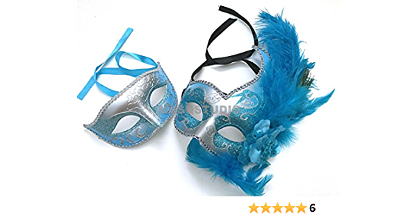 Women/'s Lace Mask Turquoise Lace Masquerade Mask with Feathers and Crystals Bridal Wedding Mask Masked Ball Wedding Masquerade Masks