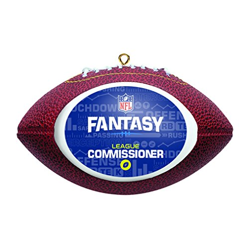 Boelter Brands NFL Fantasy - Figura Decorativa de balón de fútbol, Fantasy Football Commissioner, Azul, 4.25'