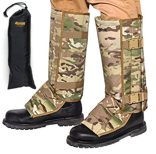 Razer Gaiters Snake Gaiters with Storage Bag - Snake Protection Gaiter for Lower Legs (camo)