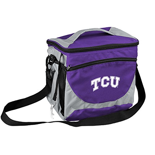 Tcu Horned Frogs Bottle - Logo Brands NCAA TCU Horned Frogs 24-Can Cooler with Bottle Opener and Front Dry Storage Pocket