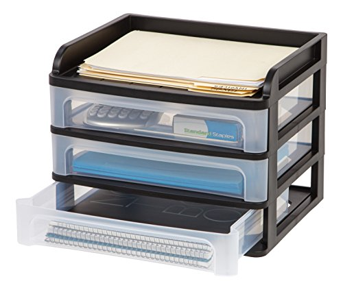 IRIS Medium Desktop Drawer (Black Plastic Desktop)