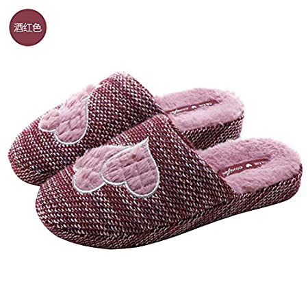 WXMTXLM Zapatillas de algodón de invierno para damas con ...